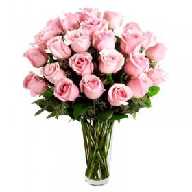 Florero 24 Rosas Rosa