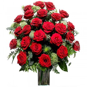 Florero 24 Rosas Rojas