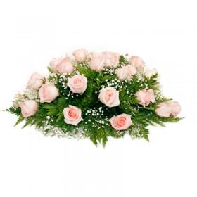 Flores Condolencias Ovalo de Rosas Rosadas