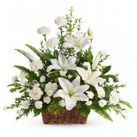 Flores para Condolencias Blancas Mix