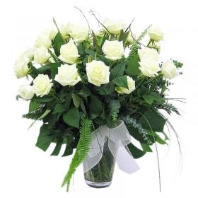 Florero Condolencias 24 Rosas