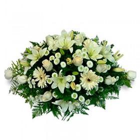Flores Condolencias Ovalo de Flores Mix