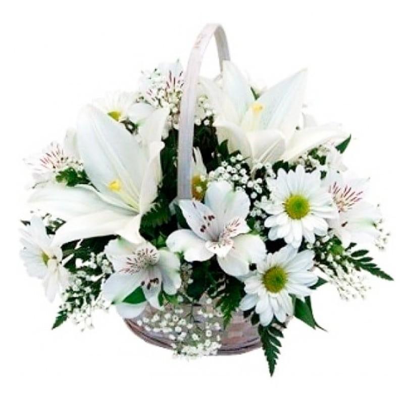 Flores Condolencias Mix Pequeño con Liliums y Astromelias