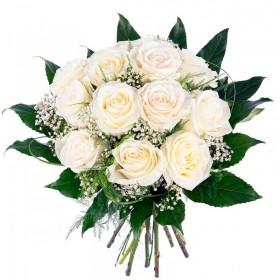 Flores Condolencias Ramo 12 Rosas Blancas