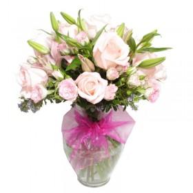 Florero Nacimiento Mix Rosa