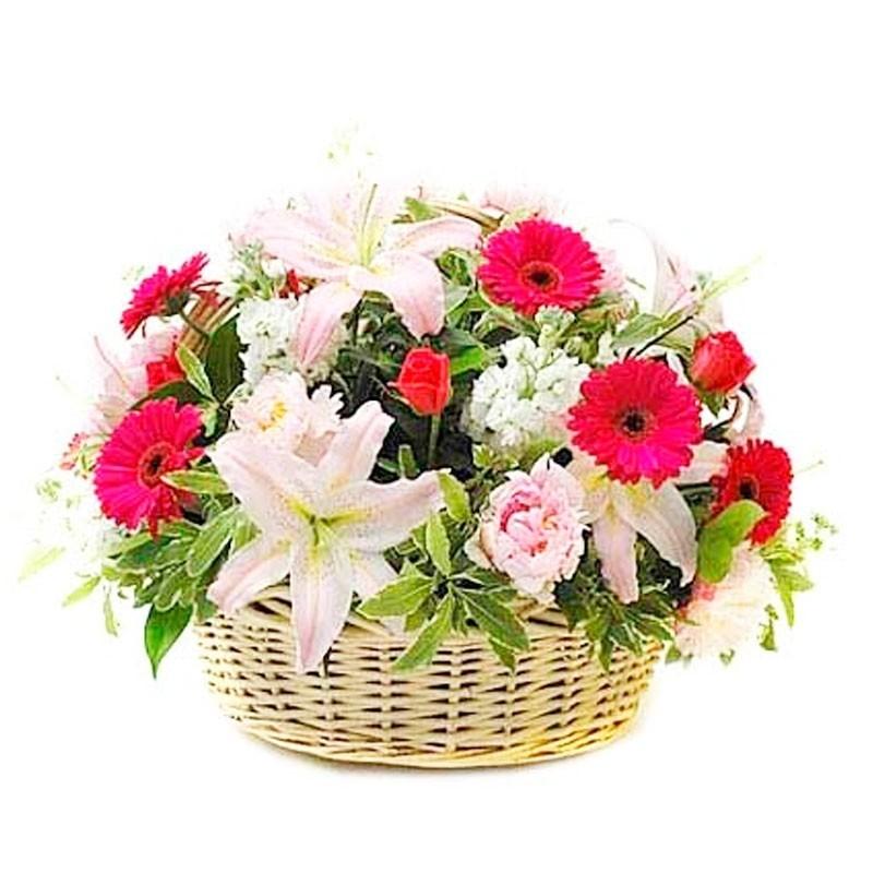 Cesta Flores Primaverales