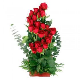 Cesta Rosas Rojas Ascendentes