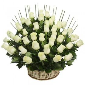 Cesta 40 Rosas Blancas