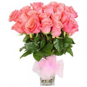 Florero 18 Rosas Rosadas