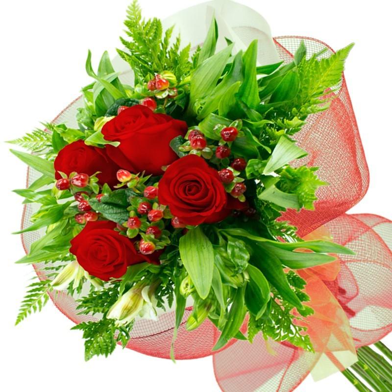 Ramo de 4 Rosas Rojas
